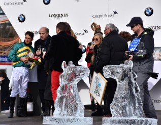 White Turf 2017, St. Moritz, Christophe Soumillon in the saddle has won the flat race GP Moyglare Stud