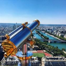 Paris, at the Eiffel Tower