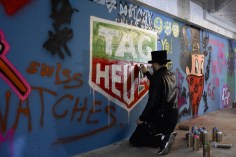 """Workshop with Alec Monopoly in his """"atelier"""" at the TAG Heuer Manufacture"""