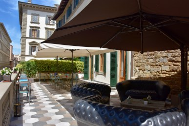 The terrace of Rodo Hotel Fashion Delight, Florence, Italy