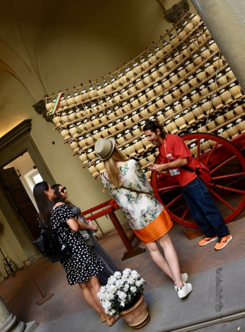 Florence Gourmet Food Tour, learning more about Antinori wine