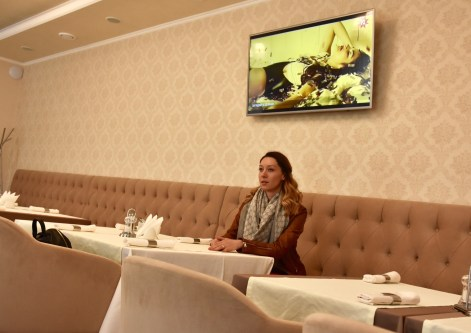 The restaurant at the Pletnevskiy Inn Hotel, Kharkov, Ukraine