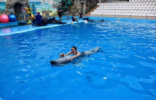 "Swimming with dolphins at THE KHARKOV DOLPHINARIUM ""NEMO"""