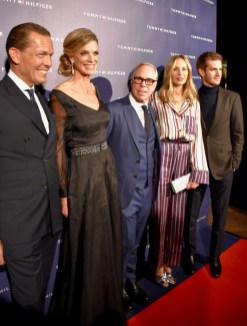 Andrew Garfield, Nadja Schildknecht, Dee Ocleppo and Tommy Hilfiger himself at his VIP Party during ZFF 2017