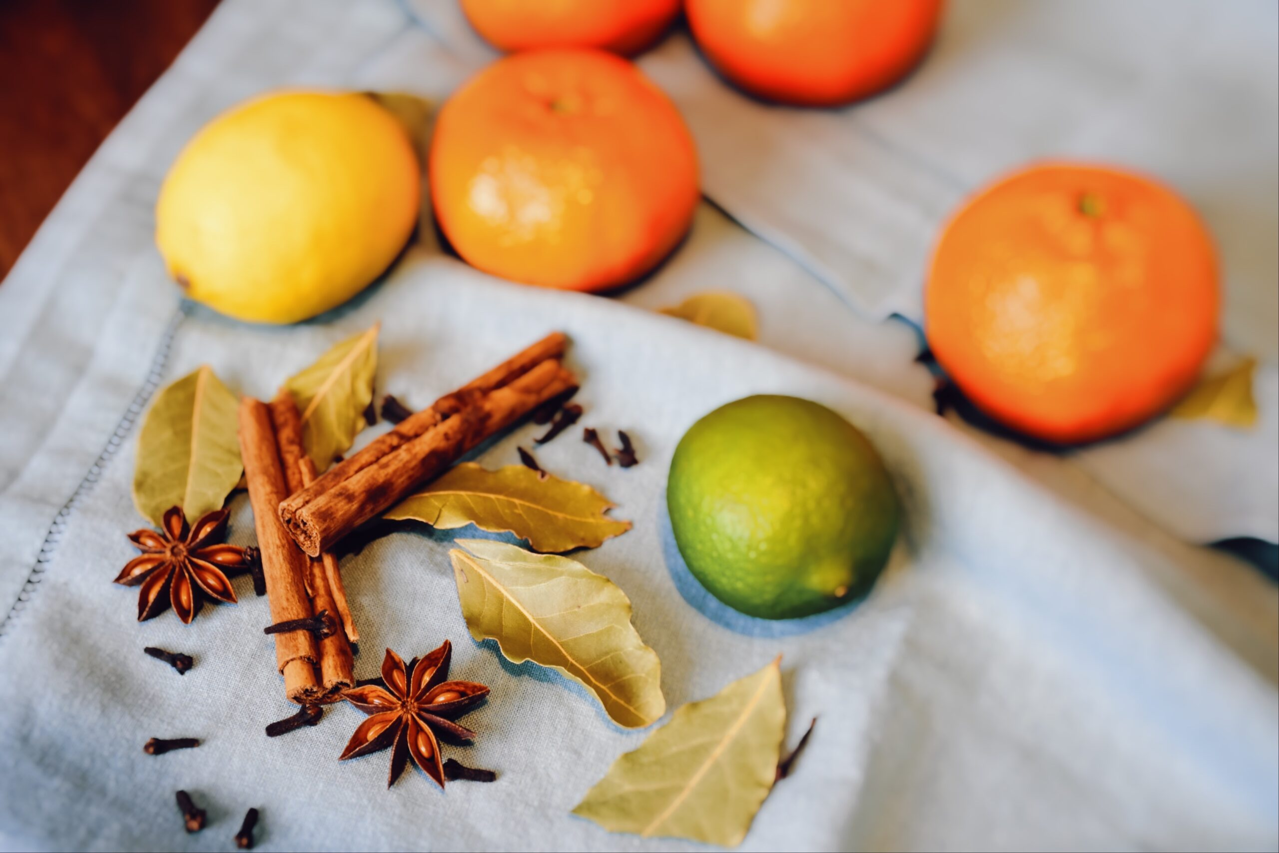 Fruits and spices for mulled wine or Gluhwein, MonAme Magazine