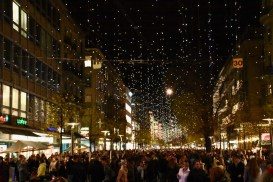 "Christmas lights called ""Lucy"" on the Bahnhofstrasse are switched on"