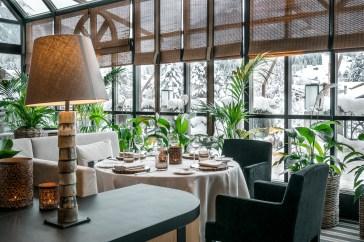 Avenue Montage restaurant, Park Gstaad, December 2017