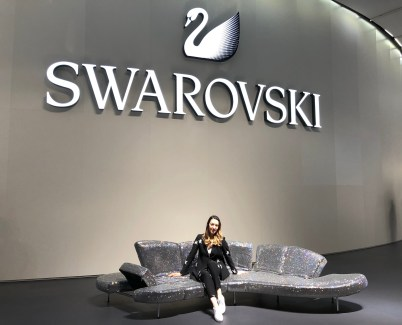 Baselworld 2018, SWAROVSKI, Style details: suit - SARAR, sneakers - BURBERRY