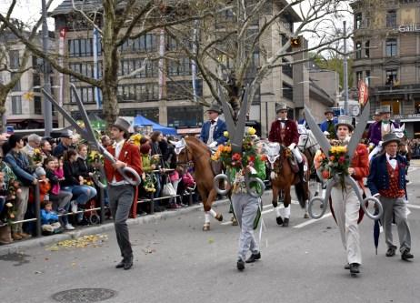 The guild's parade during Sechseläuten, Zurich Spring Festival