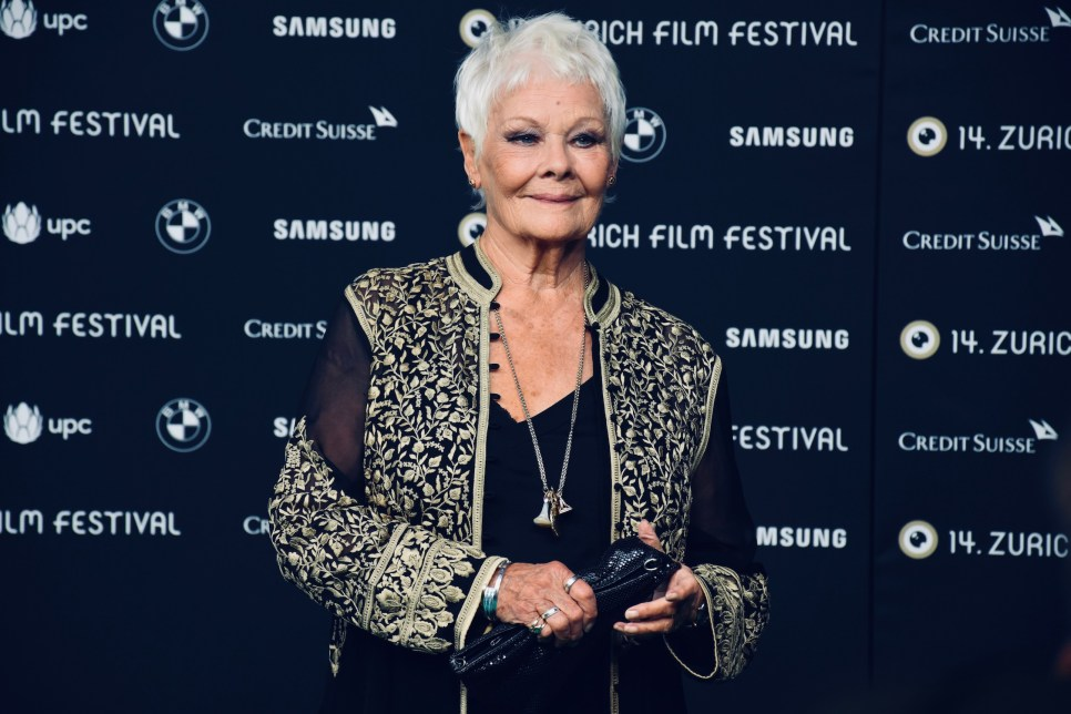 """Judi Dench on the Green Carpet of 14th Zurich Film Festival, before the premiere of RED JOAN and receiving the """"Golden Icon Award"""""""