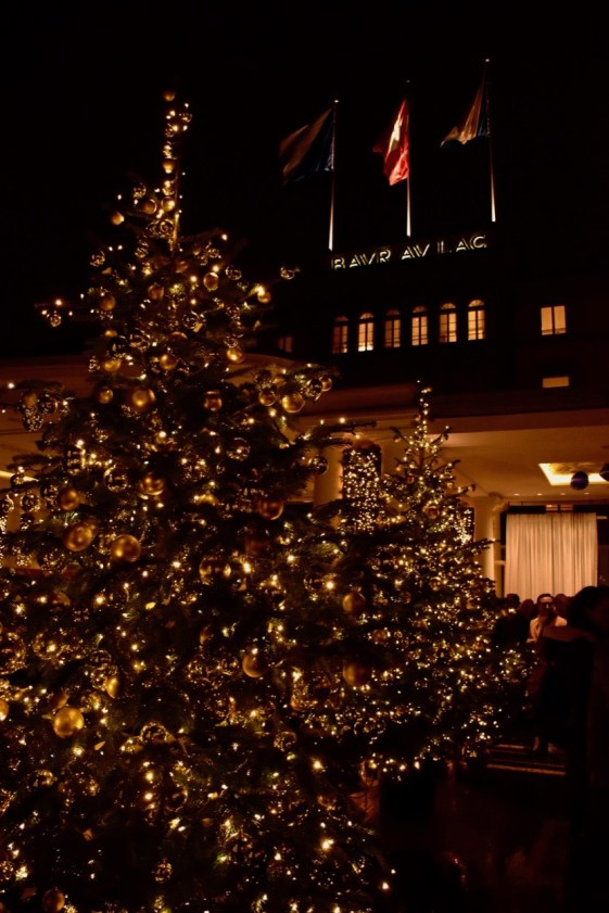 Christmas Tree lighting at the Bar Au Lac Hotel