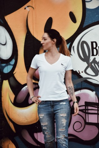 World of Julia's vision for Styling White Tee with jeans.
