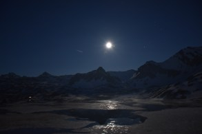 The full moon and a shooting star, Frutt Lodge and Spa