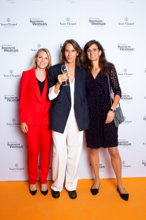 Olga Dubey, Carole Bildé, Monika Walser during Veuve Clicquot Business Woman Award 2019