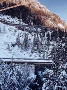 Train travel to St. Moritz