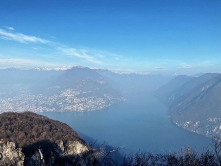 View from the mountain San Salvatore