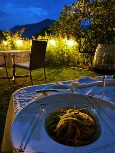Dinner at the Hotel Villa Carona, Switzerland