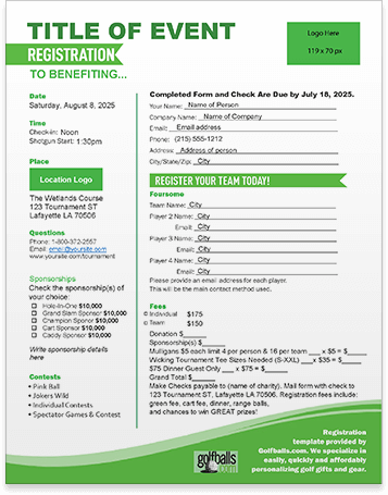 Click here to view the registration experience. Create A Registration Page Golfballs Com
