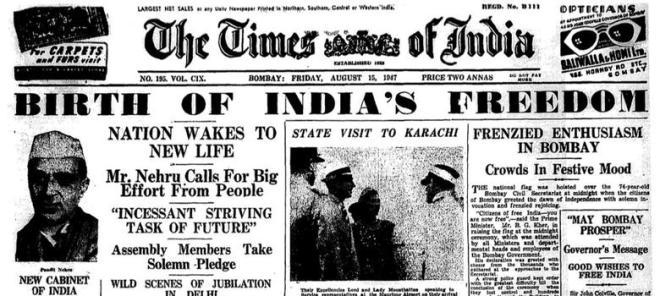 Image result for indian independence 1947
