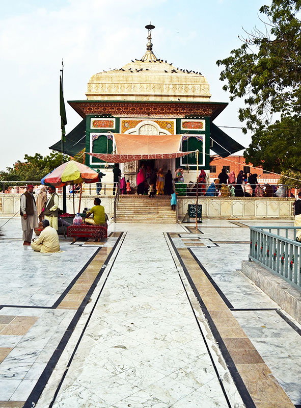 A front view of the shrine. Photo by Abdullah Khan.