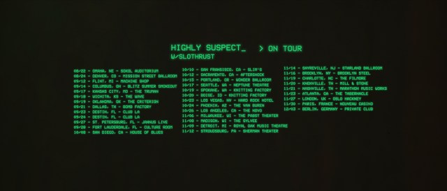 Highly Suspect Tour Dates