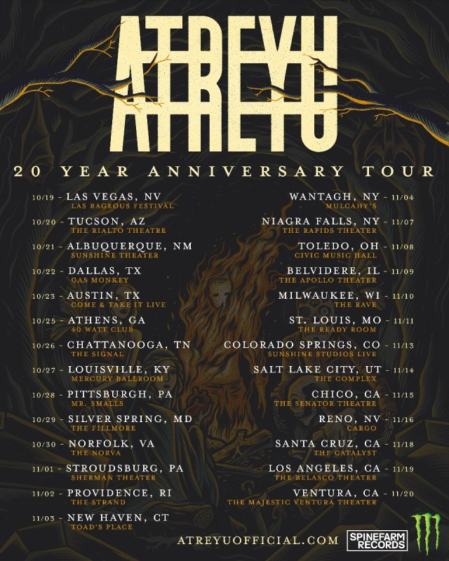 Atreyu 20th Anniversary Tour