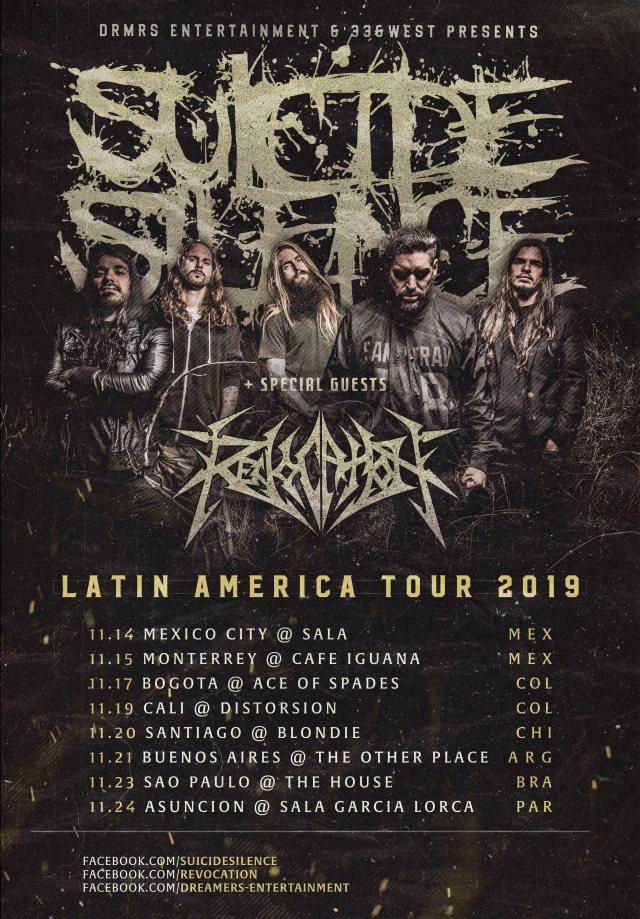 Suicide Silence 2019 Tour Dates