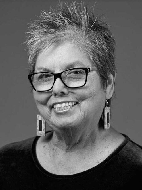 Headshot of Juanita Pahdopony, Comanche educator, poet, and artist.