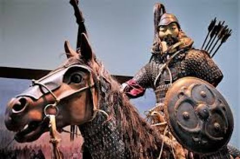 Statue of a Mongol.