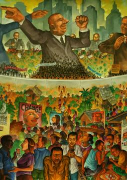 A image Neo-extractivism, higlighting the class system.