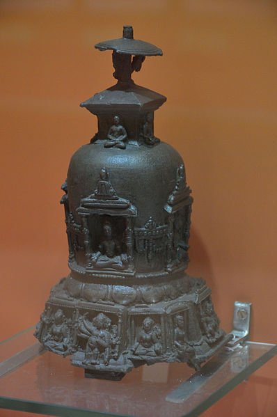 statue of a stupa from the pala period
