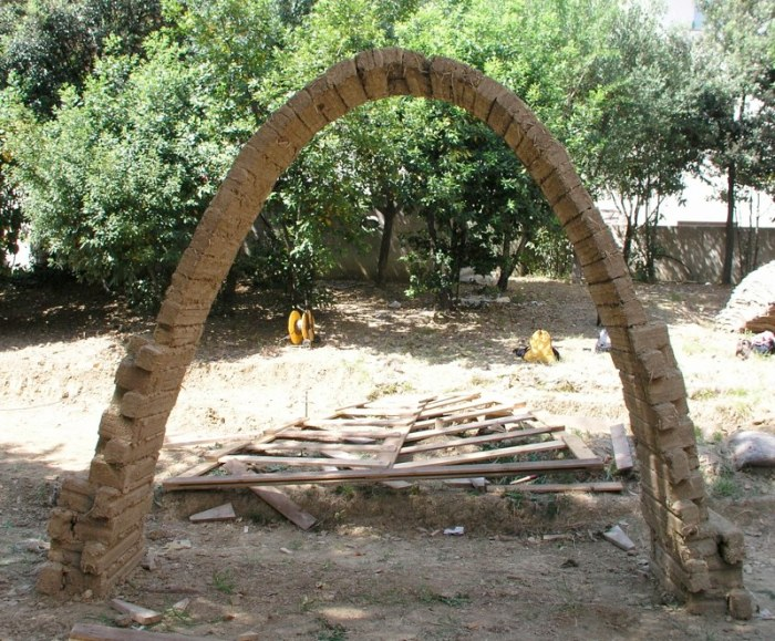 A catenary arch.
