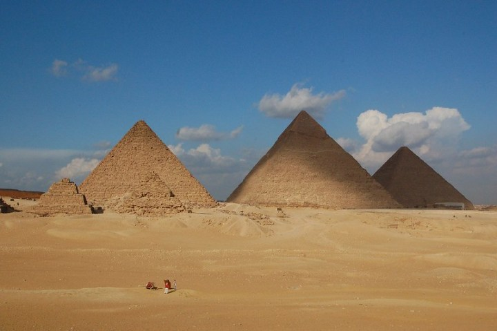 Photo of the Great Pyramids of Egypt.