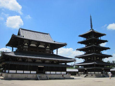Kondo (left), and Pagoda (right).