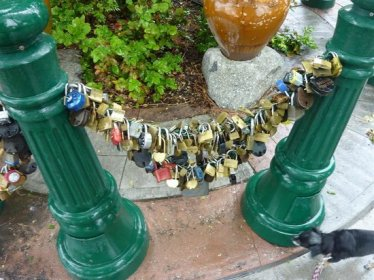 Love locks at the Lover's Lock Plaza, Nevada