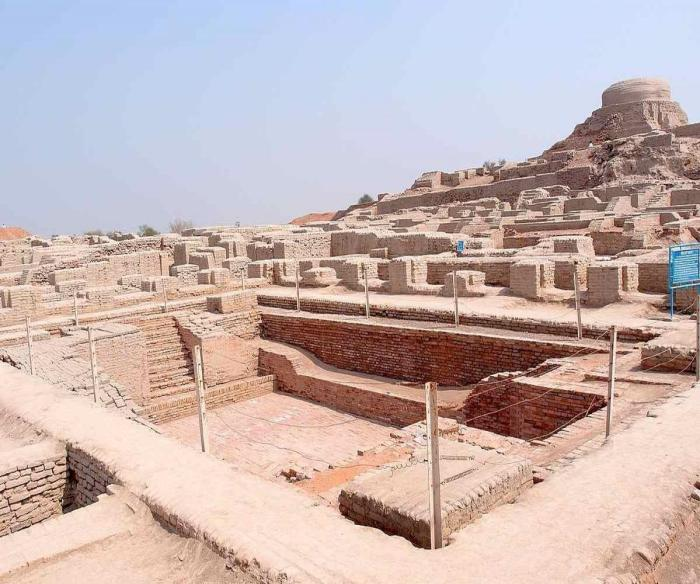 The ruins of the Indus Valley Civilization, showing the architectural structure is strong after thousands of years.