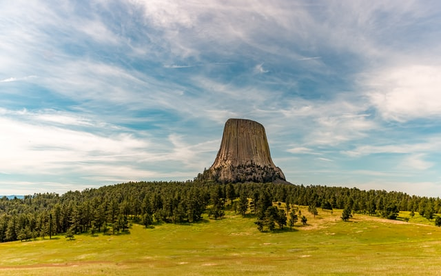 Panoramic view of the Devil's Tower