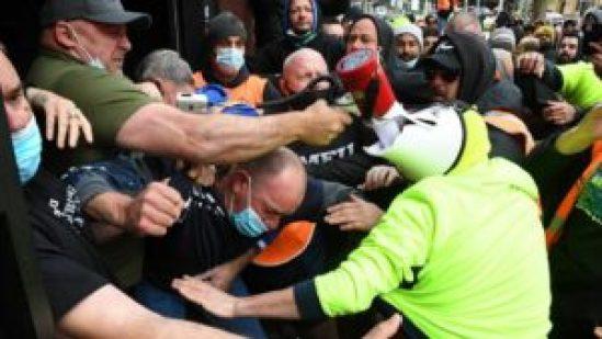 A group of men clash at Melbourne's CBD