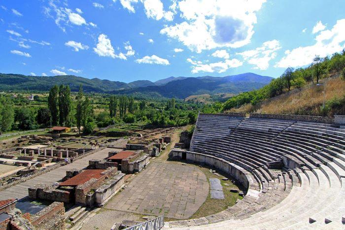 The ancient Greek city Heraclea Lyncestis in Bitola, North Macedonia