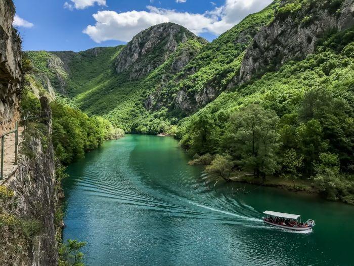 Amazing beauty of nature at Matka Canyon near Skopje, North Macedonia