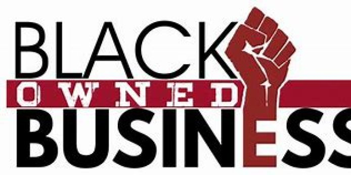 """an image of the logo which reads """"Black owned business"""""""
