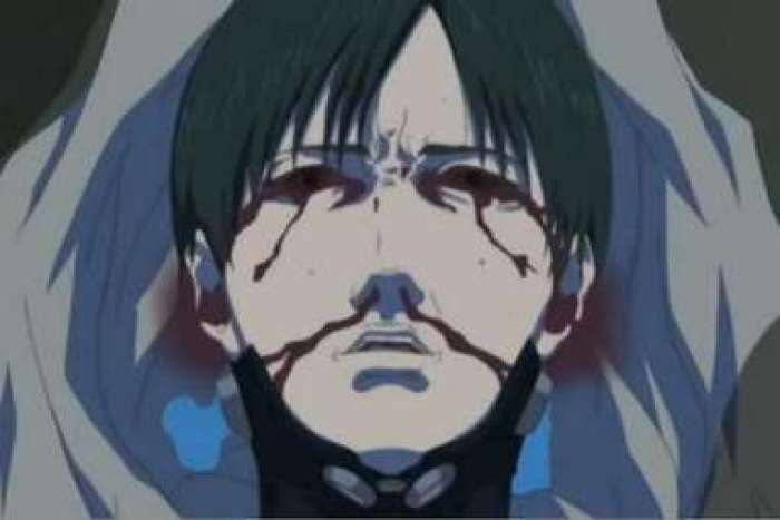 A man who is bleeding from his eyes and nose.