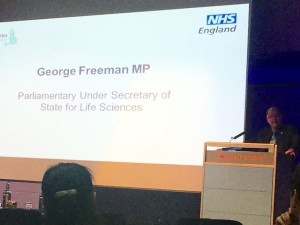 George Freeman speaking at NHS event