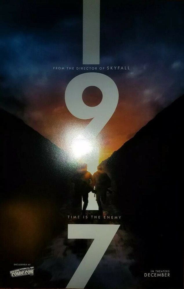 nycc 2019 exclusive 1917 movie 11x17 promo poster sam mendes brand new mint rare