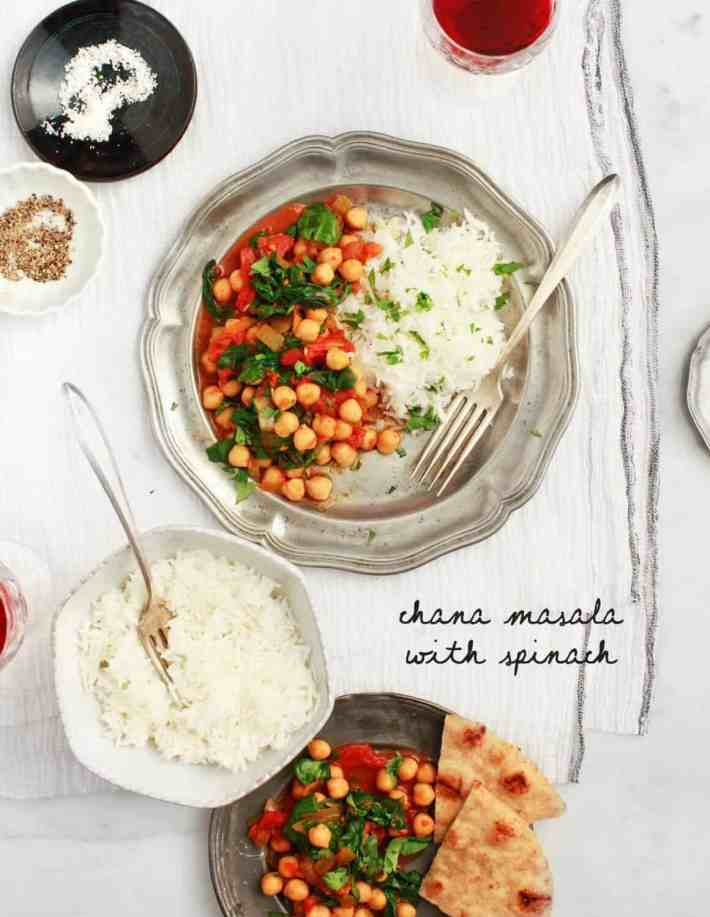 Chana Masala with Spinach