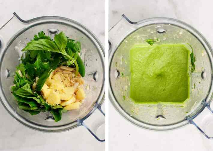 Spicy Green Soup from Near & Far by Heidi Swanson