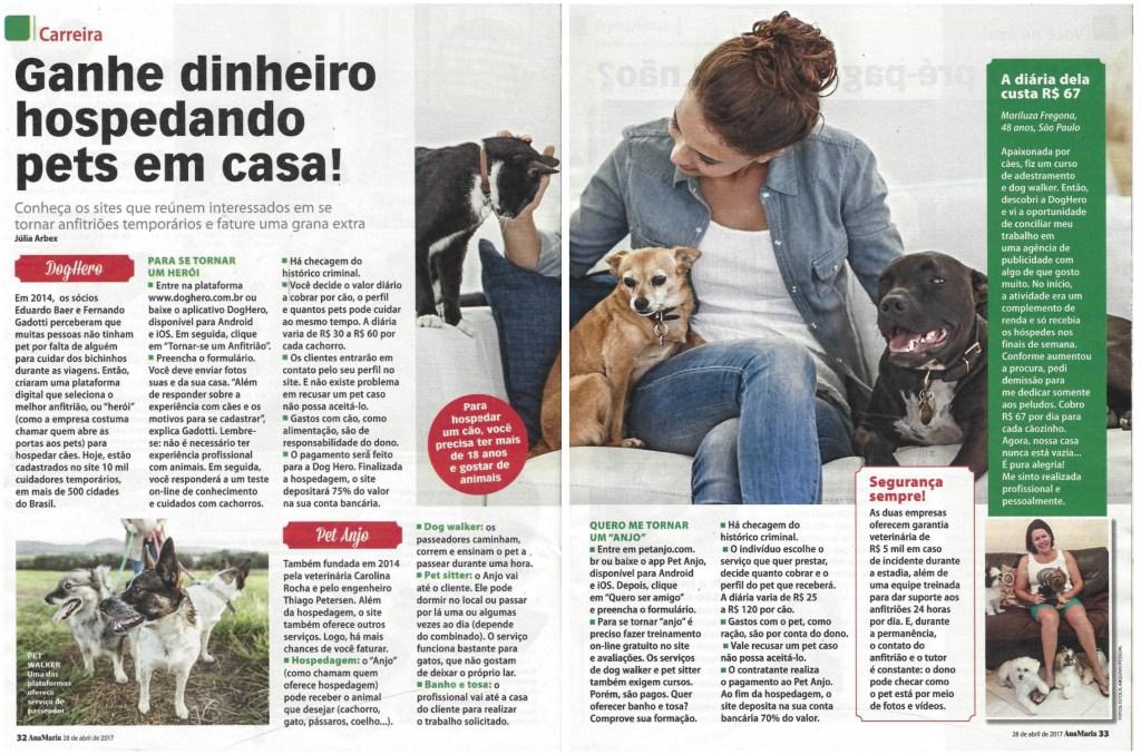 Anfitriã de São Paulo fala com a Revista AnaMaria - Blog DogHero for dog lovers