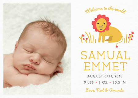Custom Birth Announcements Mailed For You Postable