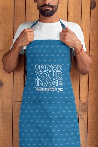 Insert your logo or design and you are ready to amaze everyone. Apron Mockup Generator Try 15k Mockups For Free Placeit