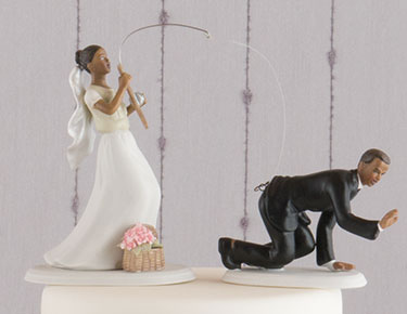Wedding Cake Toppers  Figurines  Personalized   The Knot Shop Funny Cake Toppers